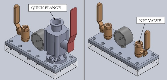 Vacuum Chamber and Pump Connection Hardware