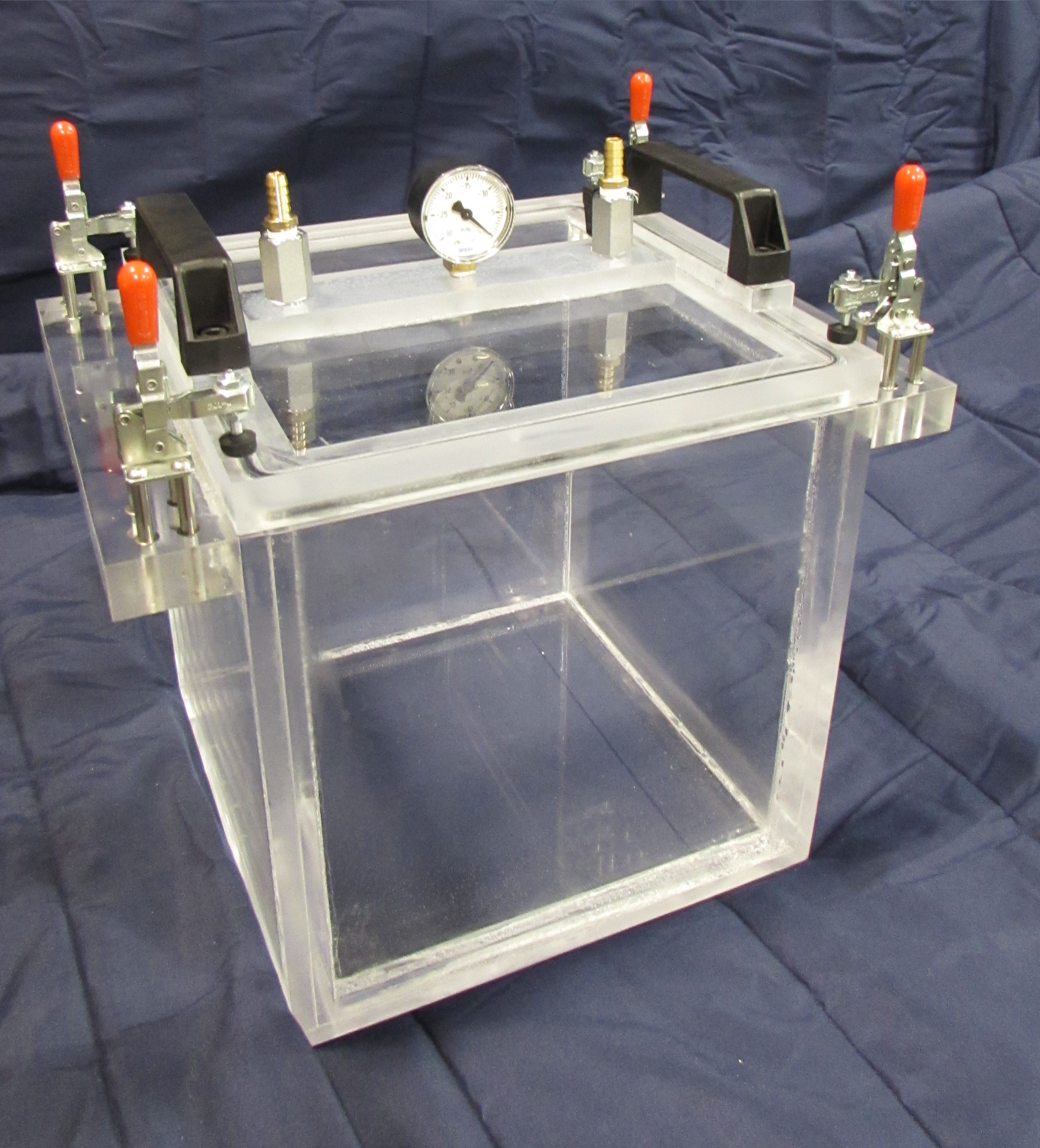 Acrylic Vacuum Chamber, Cube, 10 inch inside dimensions ...
