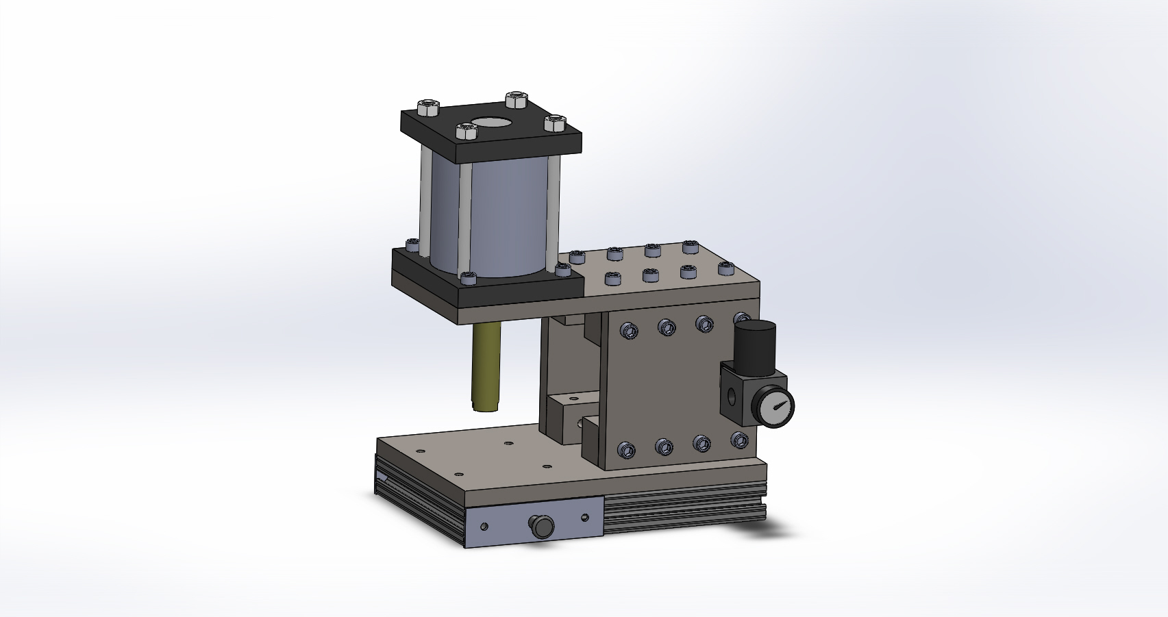 Pneumatic Air Arbor Press, Table Top, C-Frame Steel Plated Assembly ...
