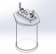 Acrylic Vacuum Chamber, Cylinder, 8 inch diameter, 12 inch height, Top Load Model, Removable Lid
