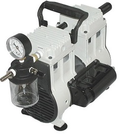 Wob-L Oil Free Vacuum Pump with Trap and Gauge, 115-60Hz 1Ph, 9 Torr at 3.5 CFM