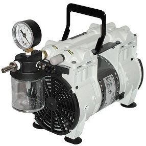 Wob-L Oil Free Vacuum Pump with Inlet Trap and Gauge, 115V 60Hz 1Ph, 60 Torr at 3.5 CFM