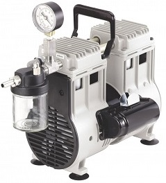 Wob-L Oil Free Vacuum Pump with Inlet Trap and Gauge, 115V 60Hz 1Ph, 60 Torr at 7.1 CFM